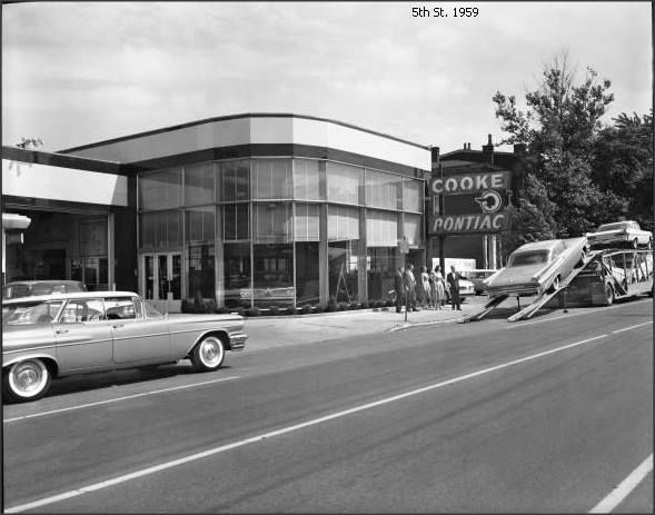 Cooke Pontiac 809 S 5th Strteet Louisville Ky Later Downtown Ford Now James Collins Ca 1950