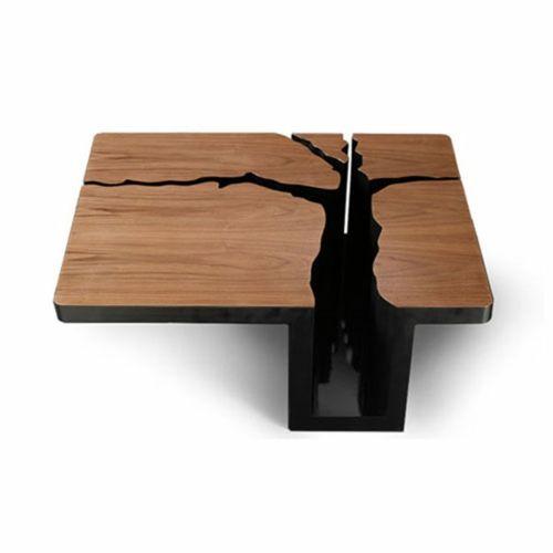 Moderne Attraktive Couchtische Fürs Wohnzimmer U2013 50 Coole Bilder    Kaffeetisch Design Quadratisch Tischplatte Massives Holz