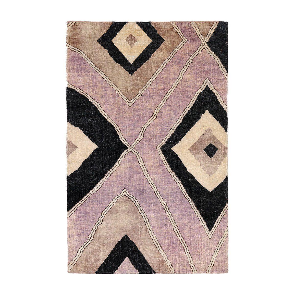 Purple Haile Kuba Silk Carpet Madeline Weinrib Rugs On