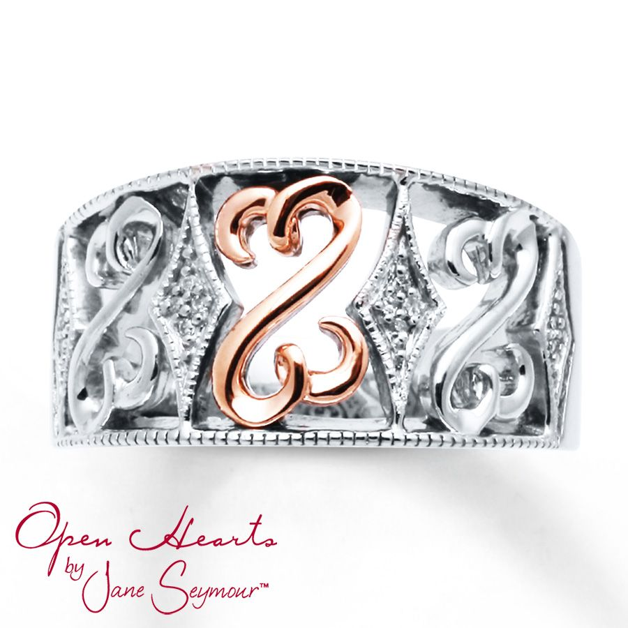 Open Heart Collection Rings Kay Open Hearts Ring Diamond