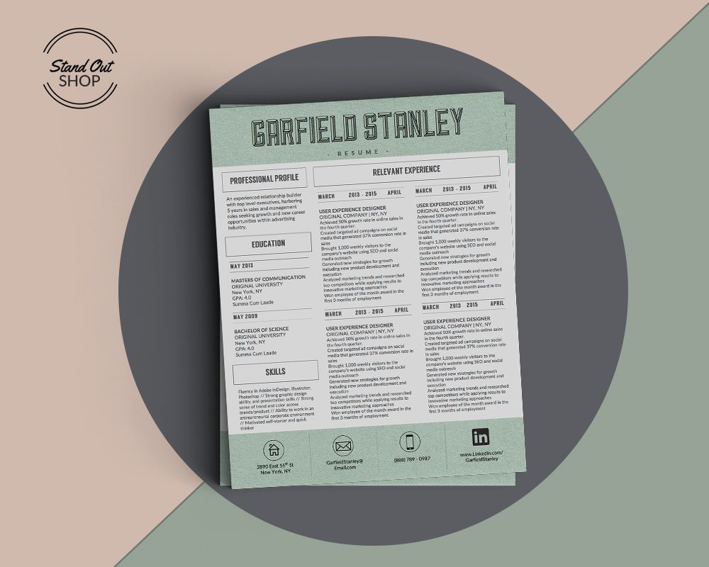 Garfield Stanley Resume Template Garfield Stanley Resume