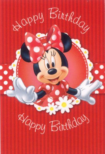 happy birthday disney happy birthday pinterest happy birthday minnie mouse and birthdays. Black Bedroom Furniture Sets. Home Design Ideas