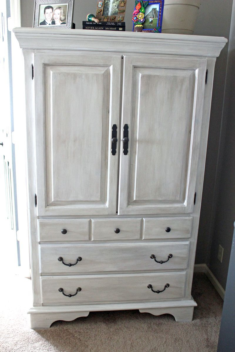 Painted Furniture Ideas For The Home Before And After Armoire