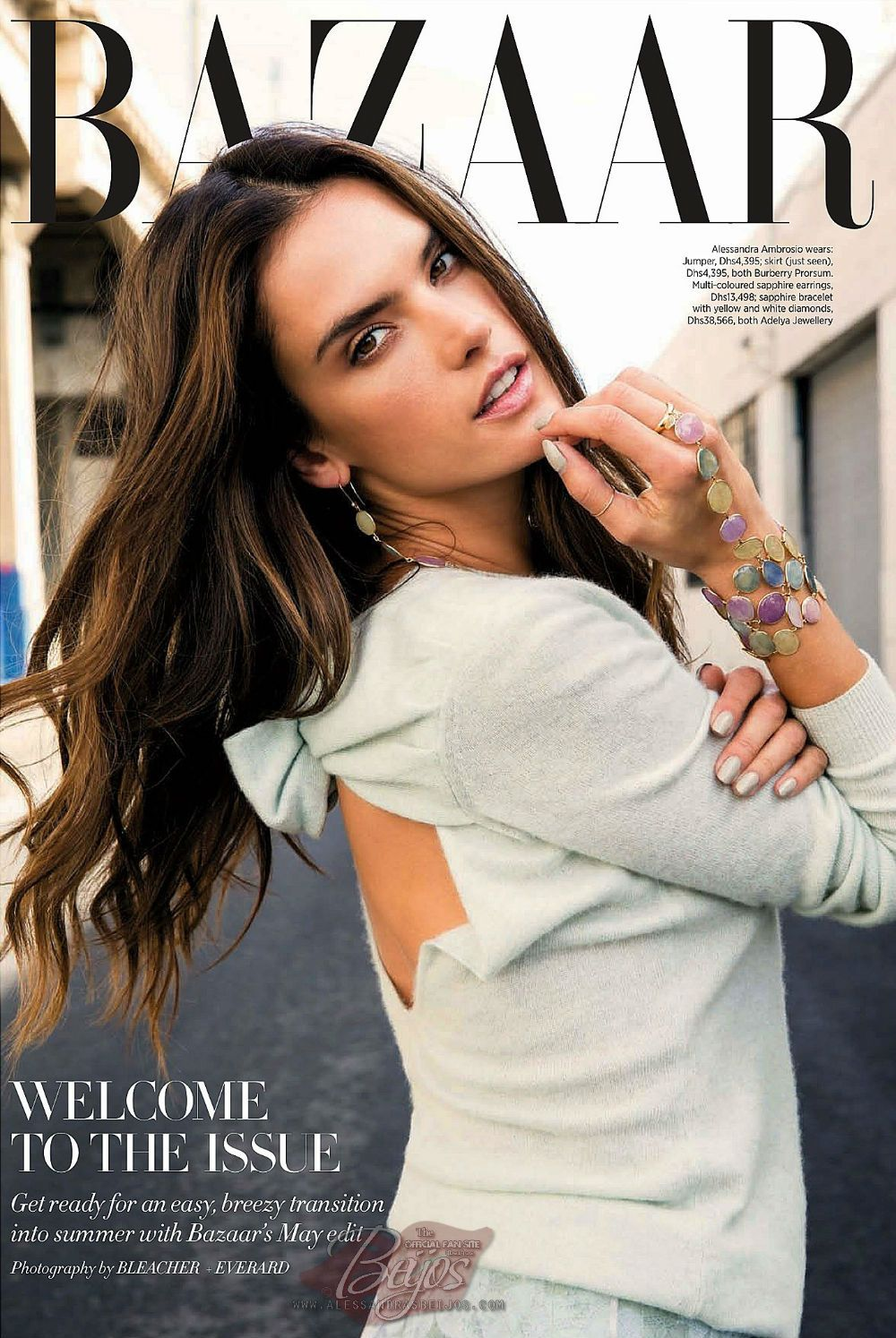 Alessandra Ambrosio by Bleacher & Everard for Harper's Bazaar Arabia May 2014 #brunette