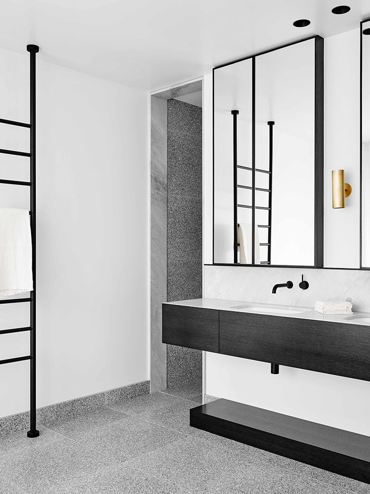 Flack Studio Simple Bathroom Modern Bathroom Terrazzo Tile