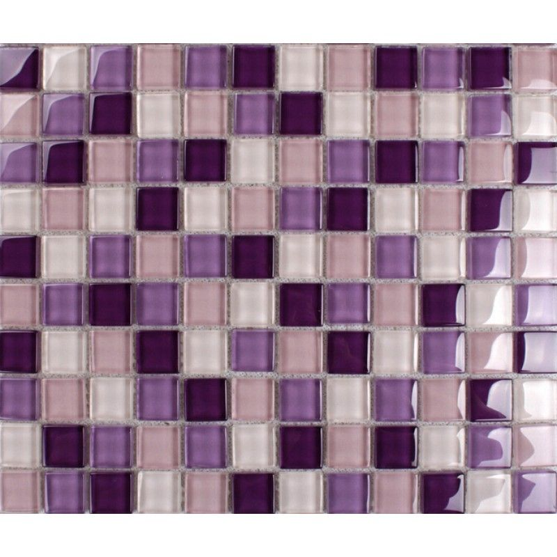 Purple Mosaic Tiles Crystal Glass Tile Bathroom Floor Tiles Wall