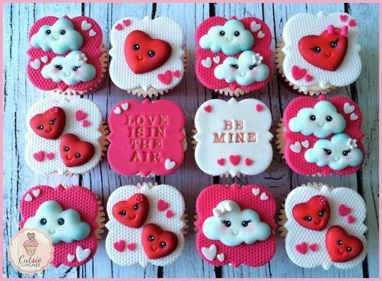 Pretty Valentine's Cupcakes