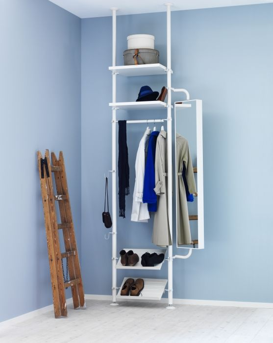 The Customizable STOLMEN System Makes A Great Stand In For A Coat Closet.