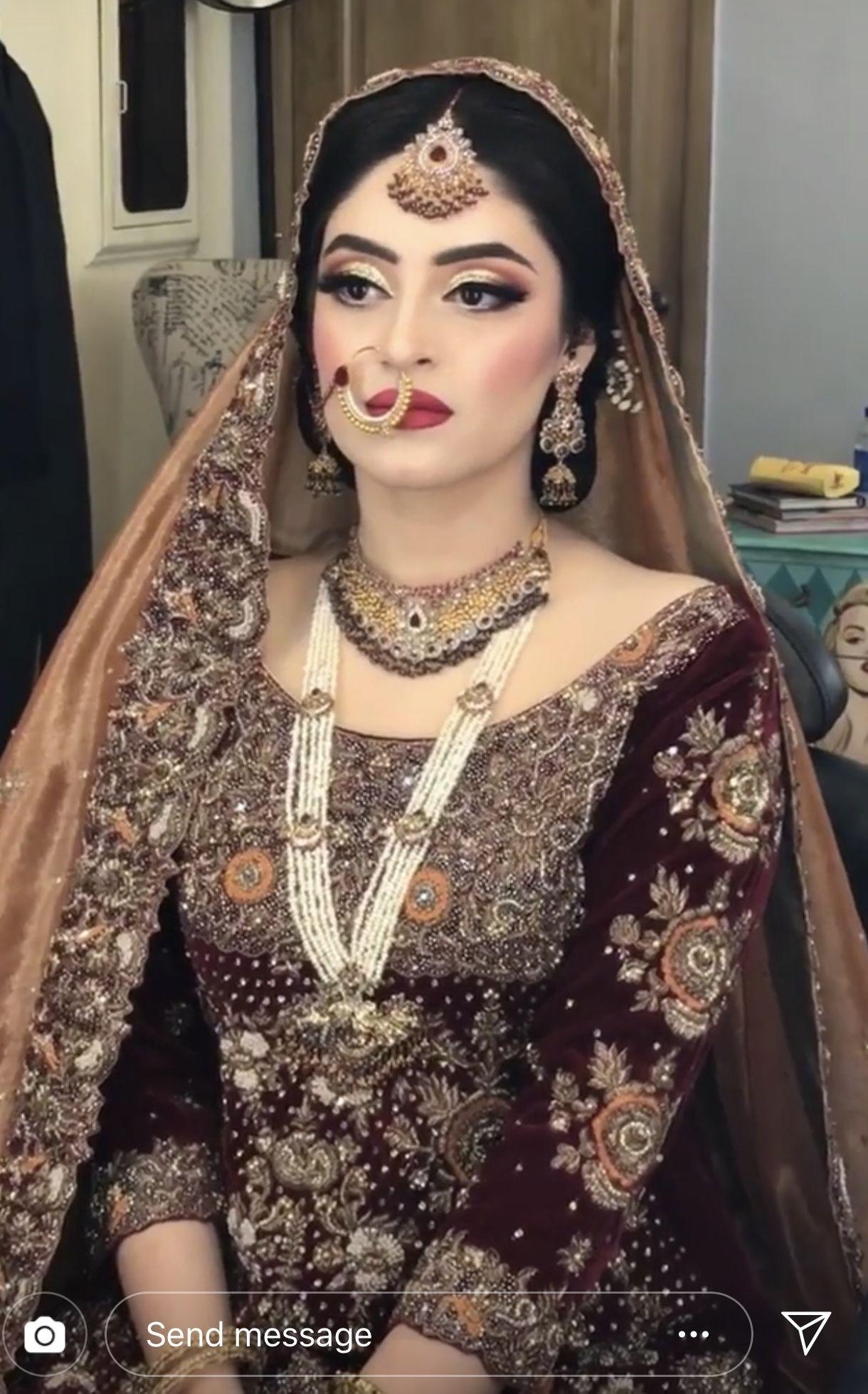 barat bride ( the makeup is amazing) | pakistani bridal