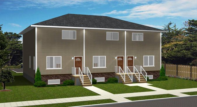 Plan 2014840 Economical Triplex Plan By Edesignsplans Ca This 2 Storey Design Is Simple To Build Because Of Its Basi Triplex Finishing Basement Family Plan