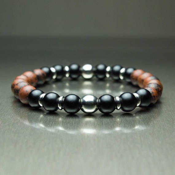 2 Raw Stone balance de perles 8 mm Rouge Turquoise Femmes Hommes Charm Bracelets Bijoux