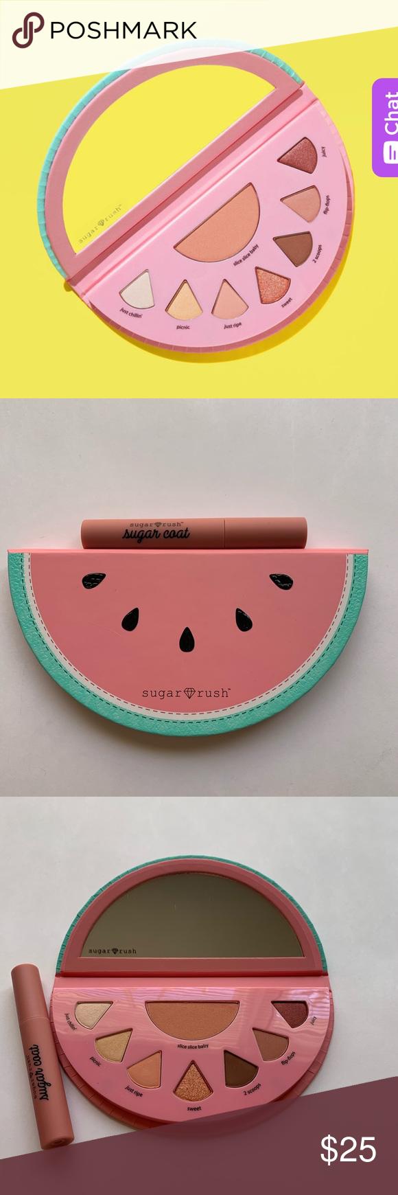 Tarte sugar rush eye palette and liquid lipstick NWT