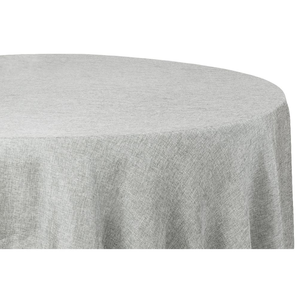 Faux Burlap Table Overlay Topper Tablecloth 90 Round Gray
