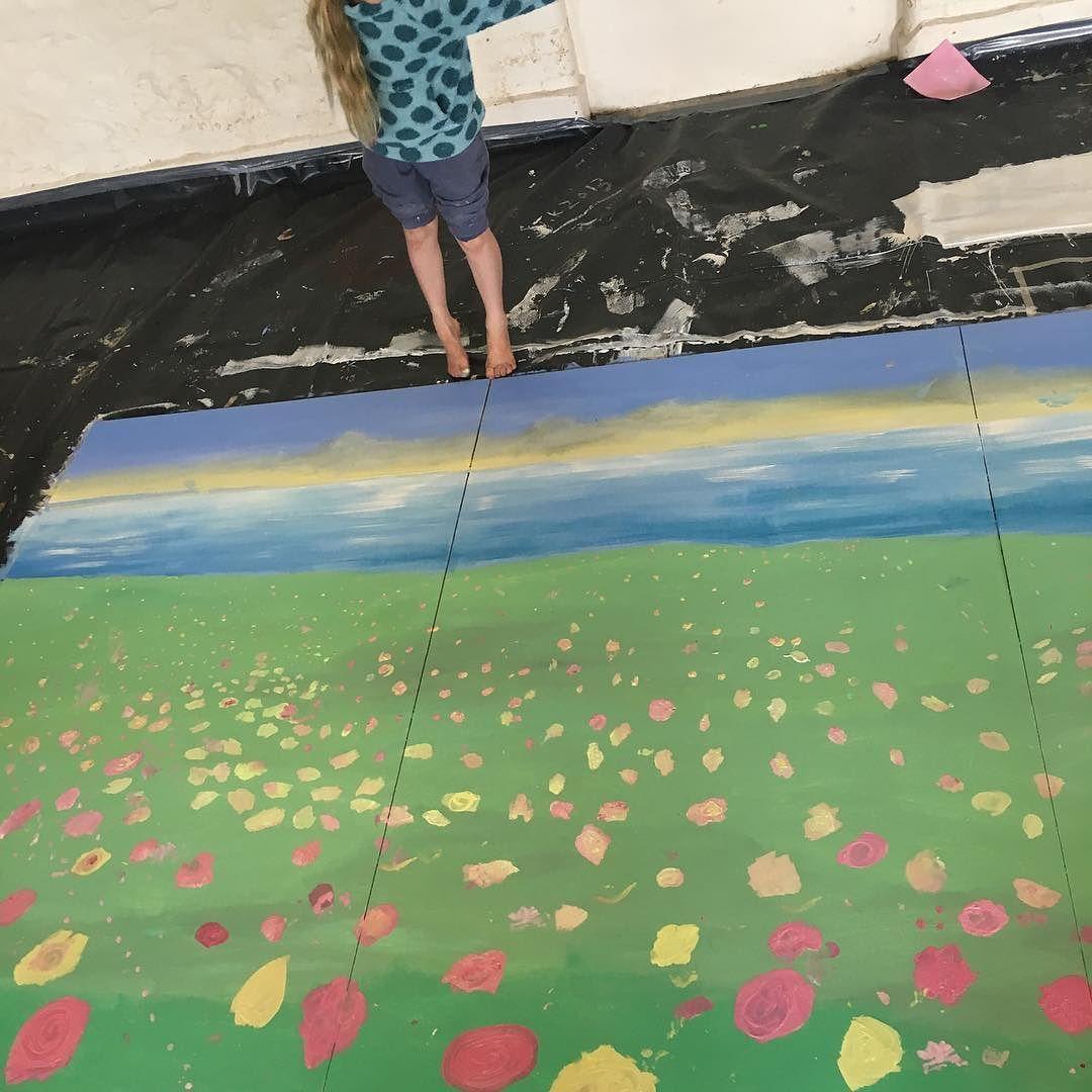 #mural #painting for #bosaverncommunityfarm #bosavern with Julia kerrison