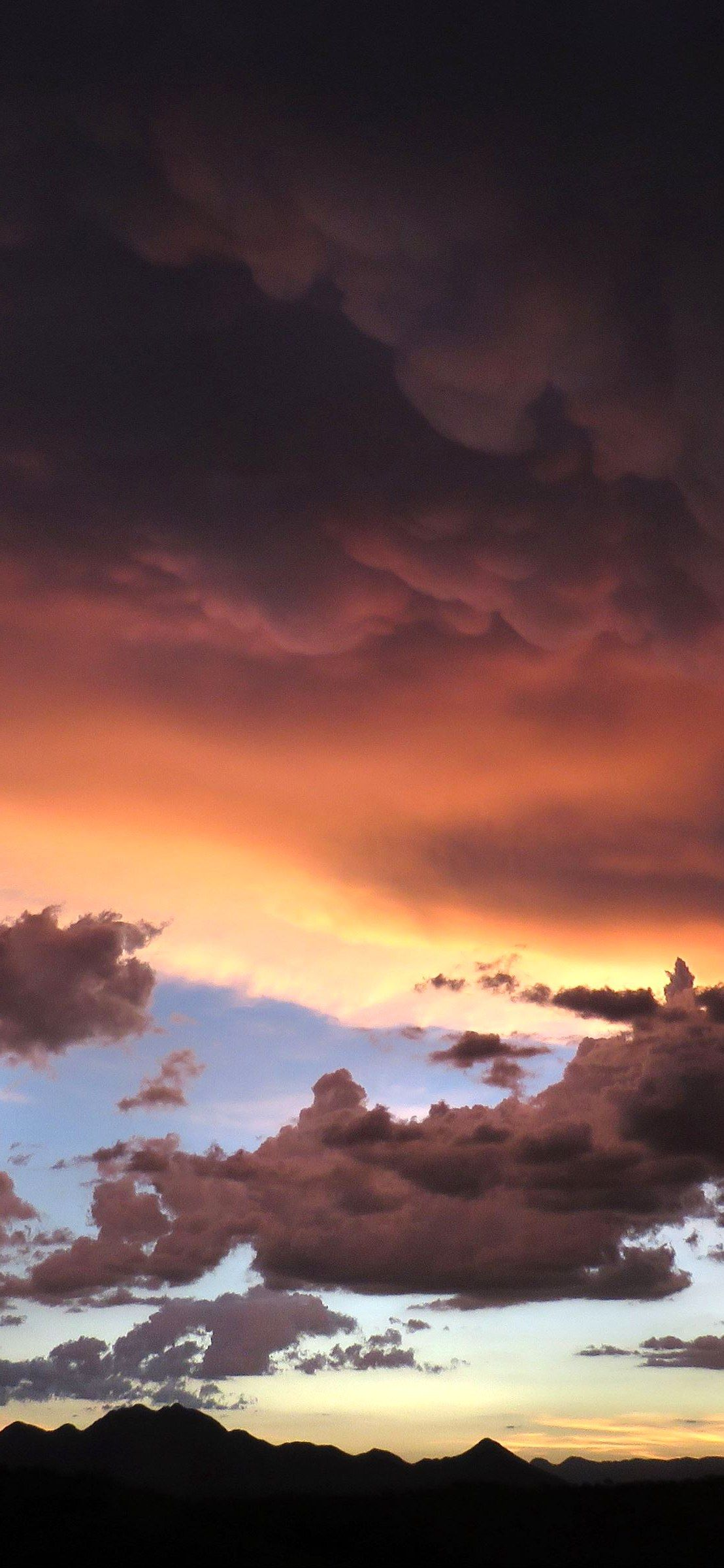 Iphone X Wallpaper Mountains clouds sunset Hd in 2020