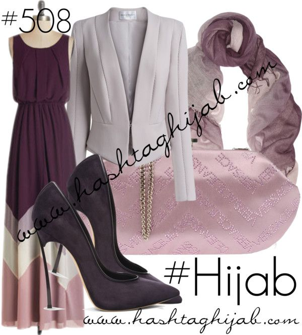 Hashtag Hijab Outfit #508 van hashtaghijab met CasadeiChevron dress€52 - modcloth.comAmanda Wakeley blazer€750 - amandawakeley.comCasadei pumps€595 - casadei.comVersace pink purse€130 - yoox.comChan Luu scarve€220 - net-a-porter.com
