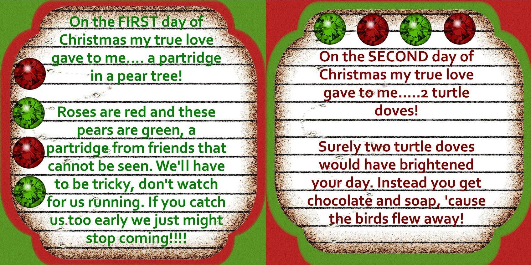 The 12 Days Of Christmas Service Idea