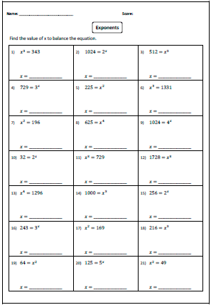Missing Base or Exponent