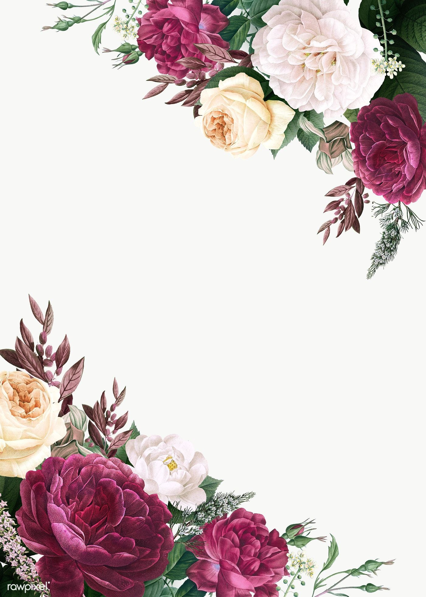 Download Premium Illustration Of Floral Wedding Invitation