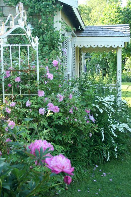 Romantic Rose Garden Beaux Jardins Jardin Romantique Et