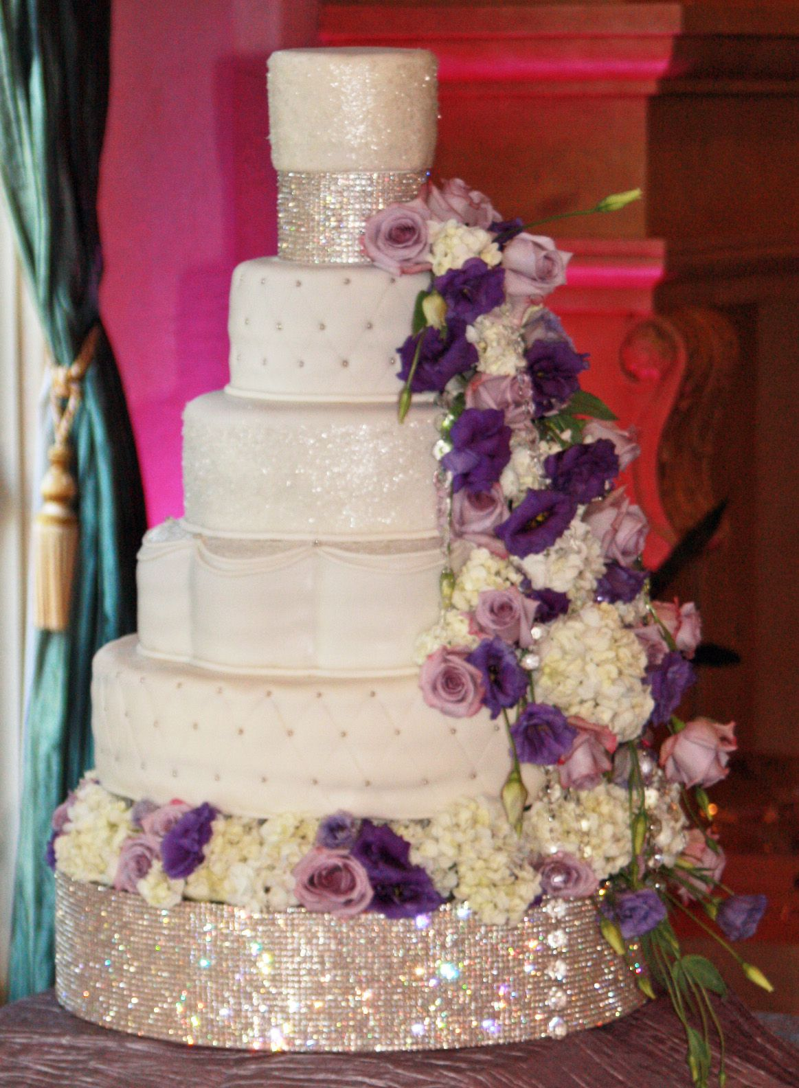 Gorgeous crystal wedding cake purple wedding pinterest