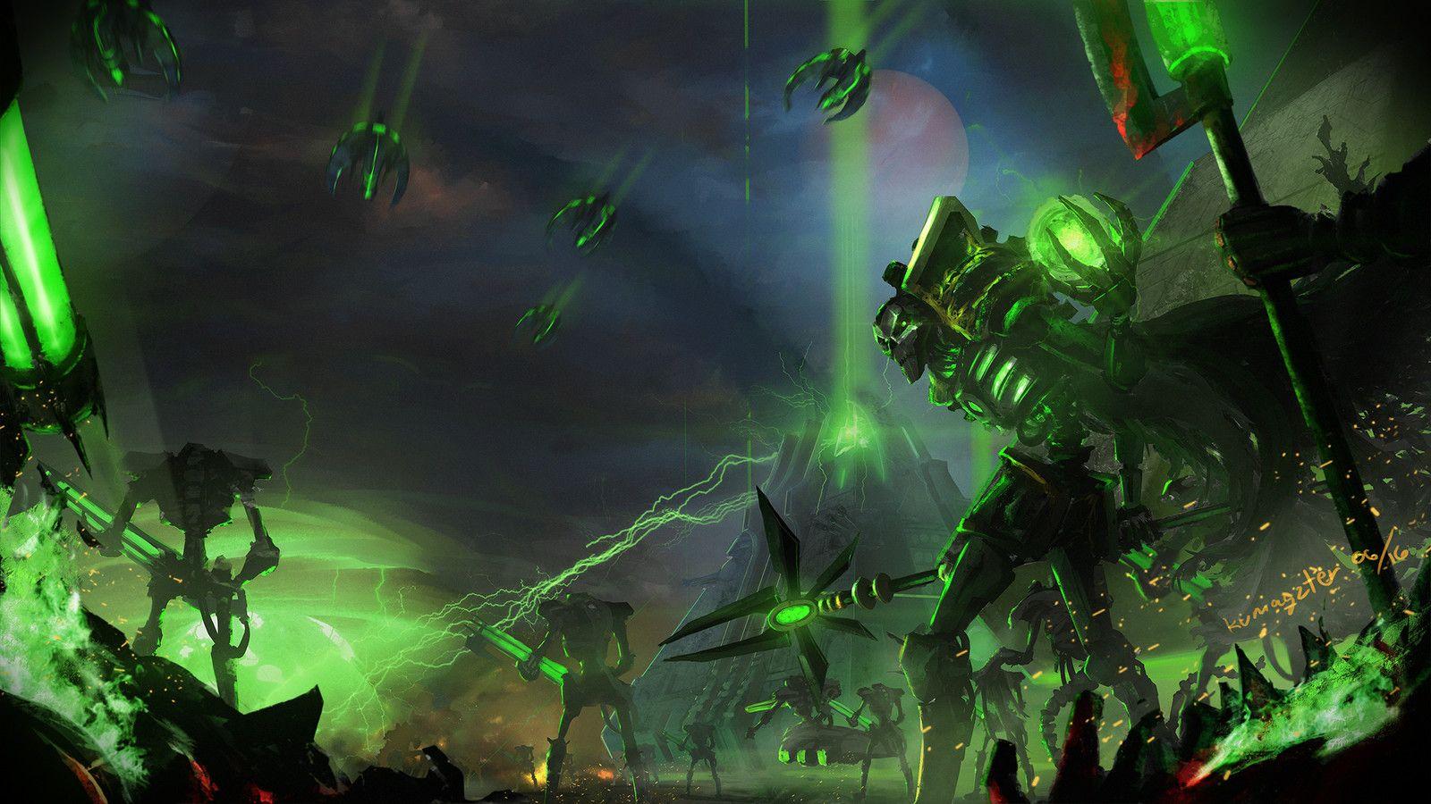 Necron Lord Kumagzter Mark Cosmiano Warhammer 40k Necrons Necron Warhammer Art