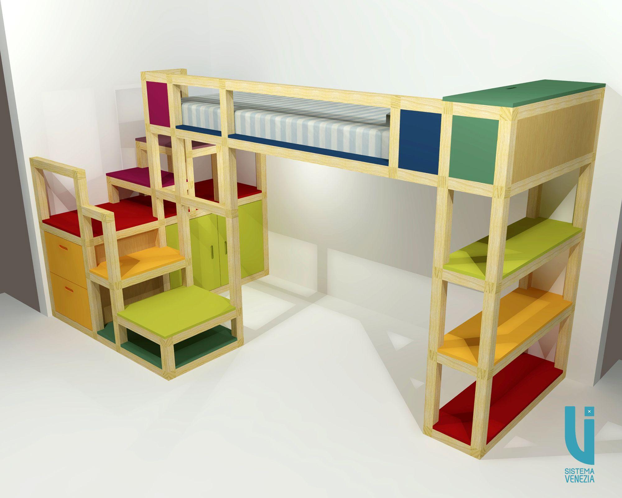 Camera da letto per bambini, realizzata con #SistemaVenezia ...