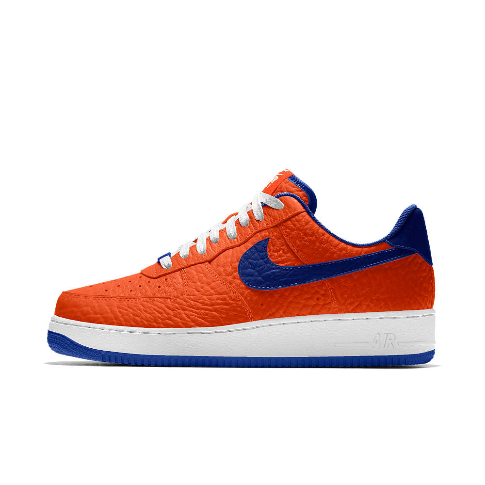 super popular 53b65 67443 Nike Air Force 1 Low Premium iD (New York Knicks) Men s Shoe Size 12.5  (Orange)