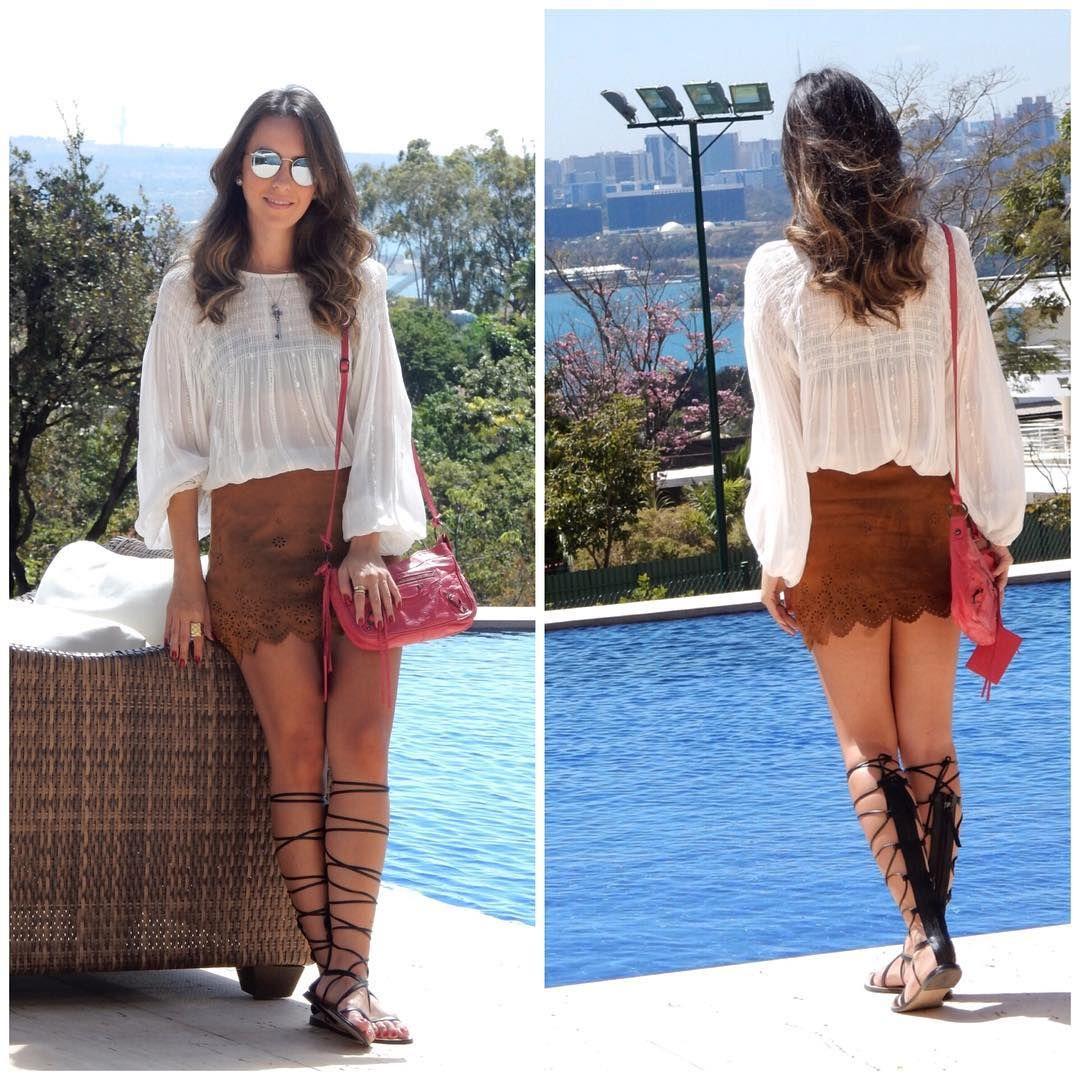 #fashion #style #ootd #gabimay #blogger #moda #estilo #lookdodia #instagram #boho #bohochic #bohemian #suede #suedeskirt #gladiadora #gladiator #camurça #chamois
