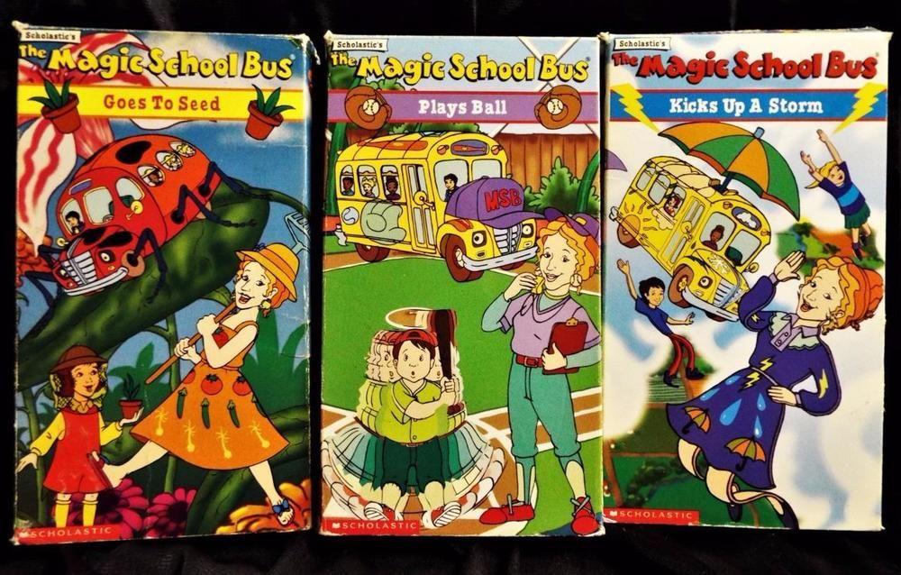 Lot of 3 scholastic the magic school bus series