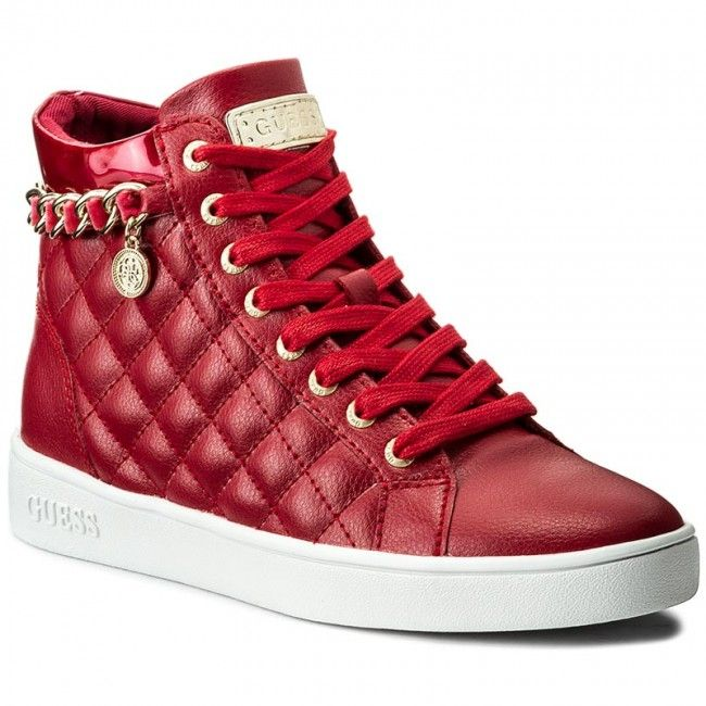 1480edfa00cbd Sneakersy GUESS - Gerta FLGER3 LEA12 BORDE Tommy Hilfiger, Fendi, High Top  Sneakers,
