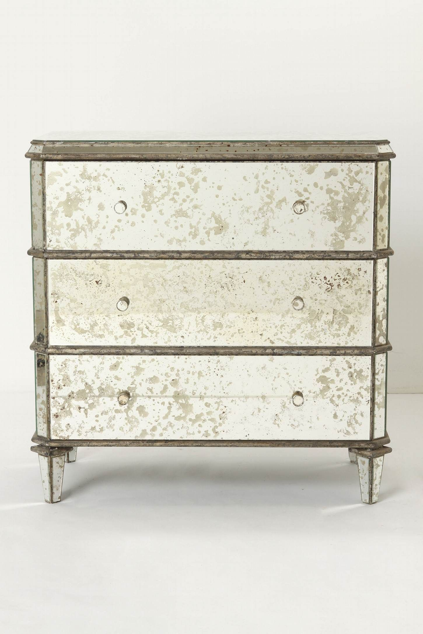 distressed mirrored furniture. Anthropologie Mirrored Dresser Let Us Reflect On The Many Ways To Use This Set Of Dappled Glass Drawers: For Stashing Antique Scarves, Holding Placemats And Distressed Furniture E