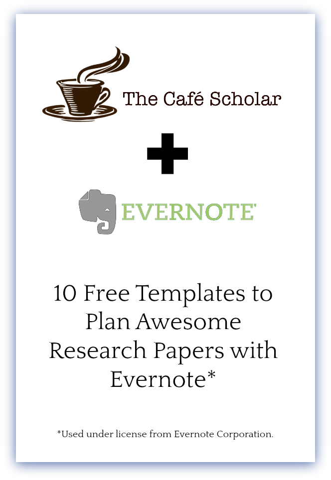 Plan Awesome Research Papers With Evernote  Evernote Template