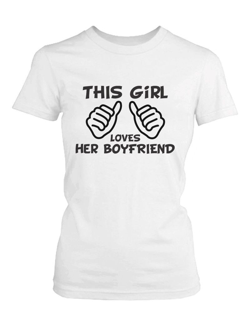 Funny Boyfriend And Girlfriend Matching Couple Shirts In White Cotton T Shirts Couple Shirts Matching Couple Shirts Girlfriend Shirts