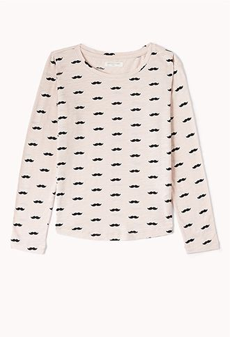 Ditsy Mustache Top (Kids) | FOREVER21 girls - 2074242366  #ForeverHoliday #WishPinWin Forever21.com