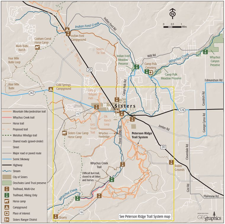 Peterson Ridge Trail - Sisters Community Trails Map | I ❤ Oregon ...