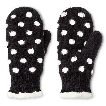 Impressions By Isotoner® Women's Polkadot Mittens - Black