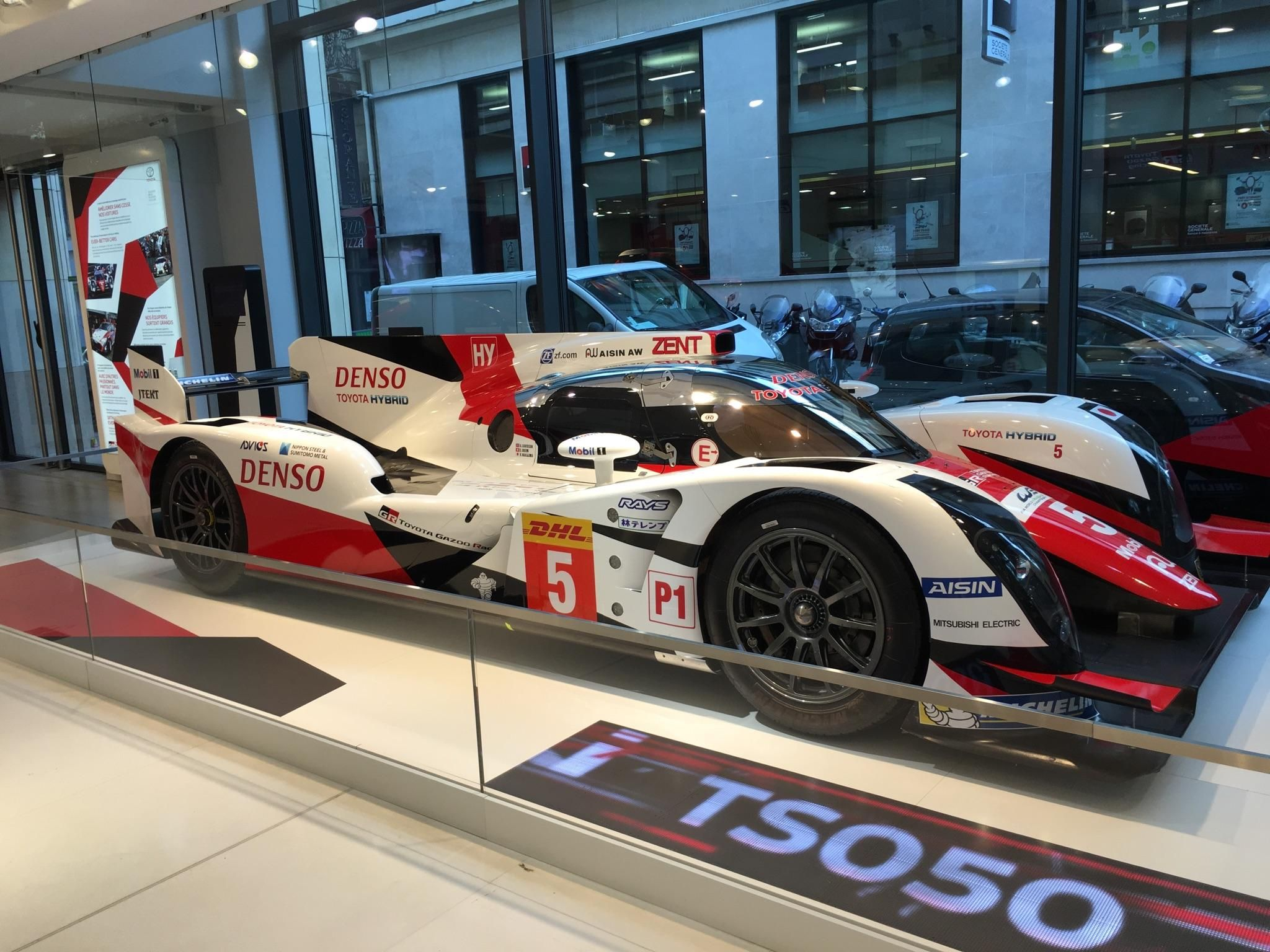 My sister spotted this 2016 LMP1 Toyota TS050 Hybrid in the