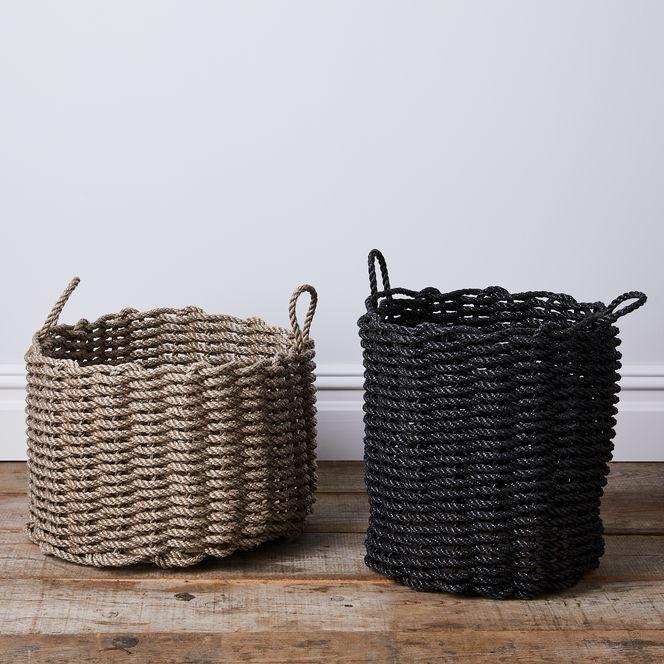 Nautical Rope Storage Bin Nautical Rope Storage Bins Basket
