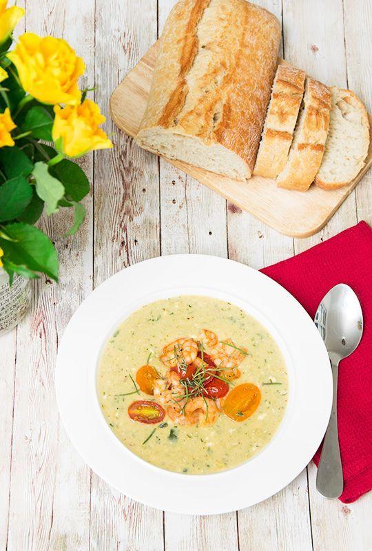Rezept ZucchiniFeta Suppe mit Thymian