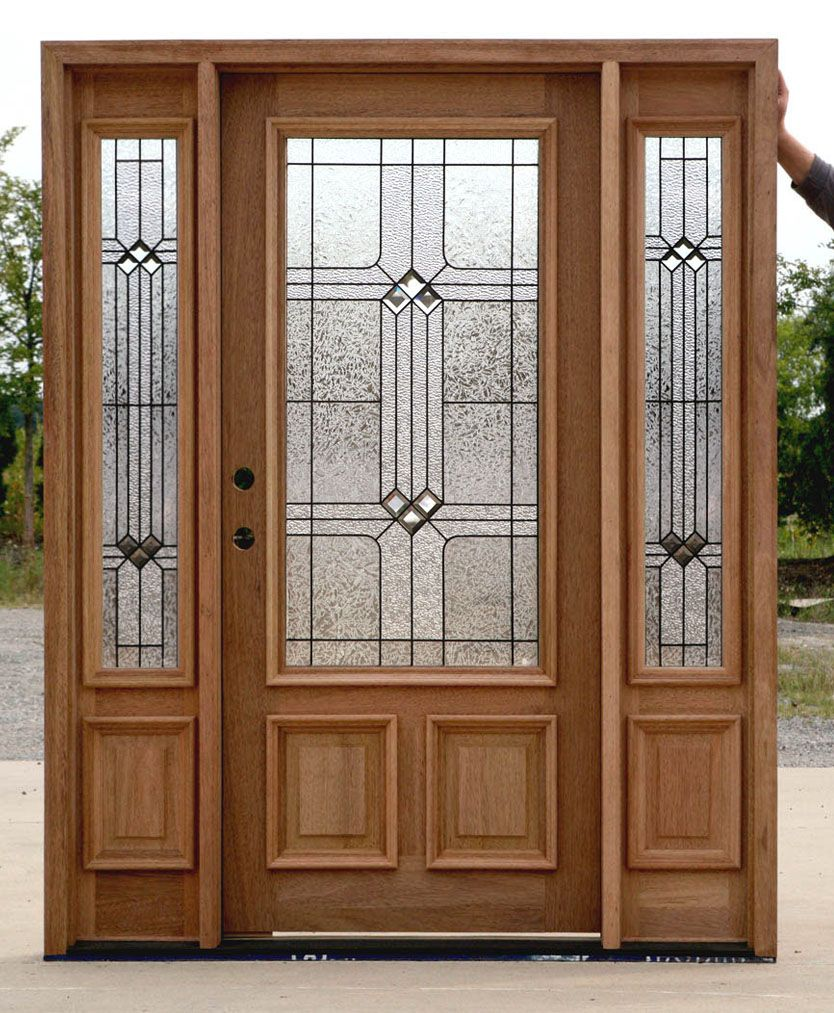 French wood front doors - Front Door With Sidelights And Transom Saratoga Exterior Doors With Sidelights