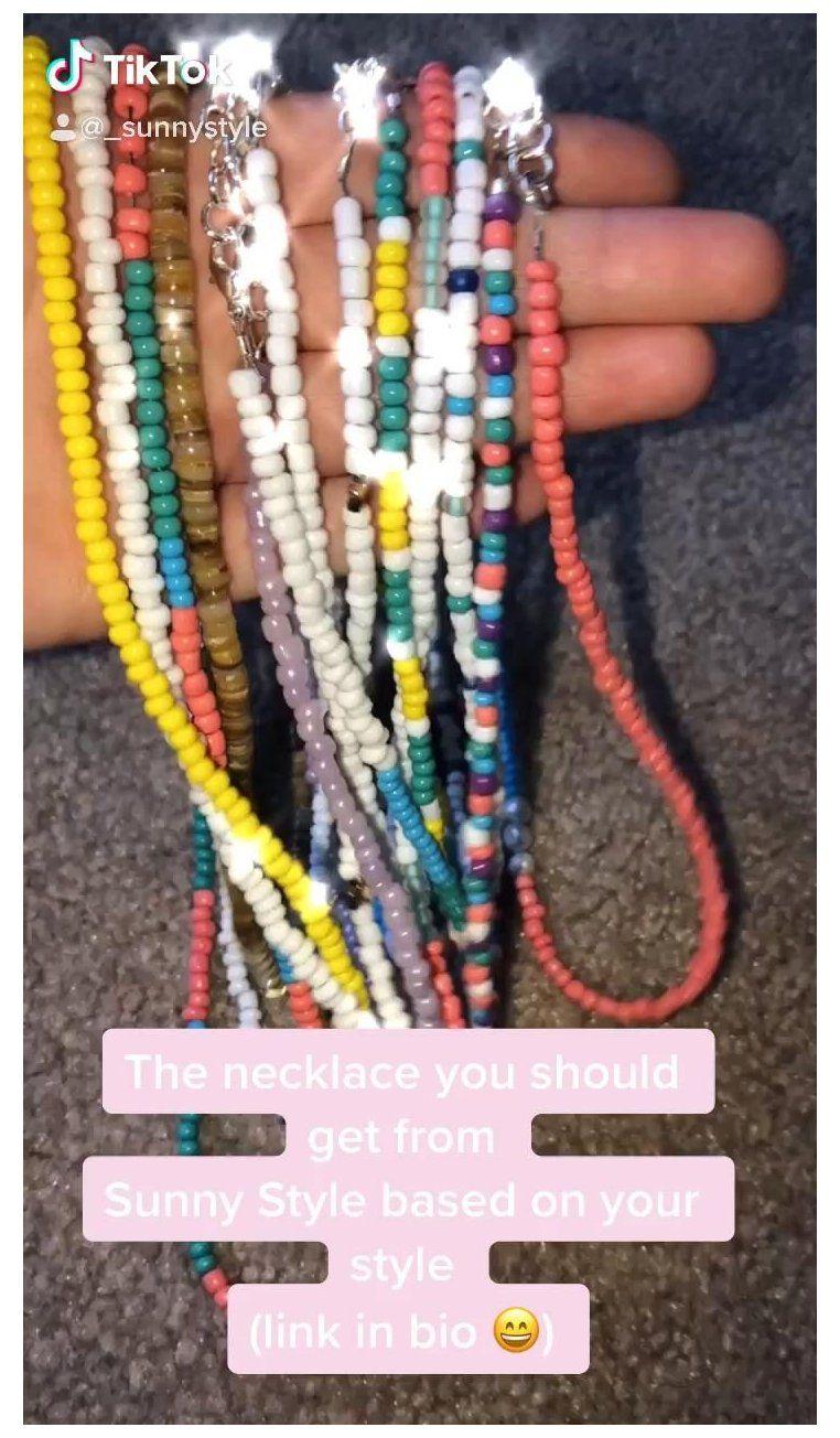 Etsy Shopsunnystyle Bead Necklace Ideas Vsco Beadnecklaceideasvsco Beaded Jewelry Beaded Jewelry Diy Handmade Beaded Jewelry