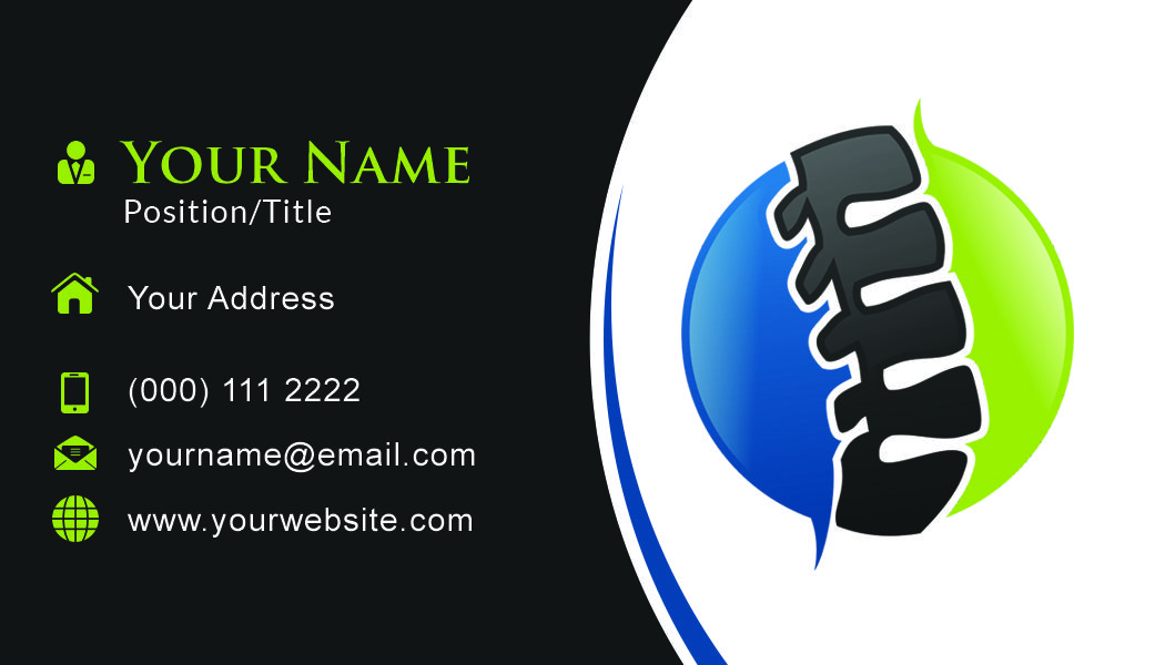 Chiropractic Business Card Template Business Card Template Chiropractic Templates