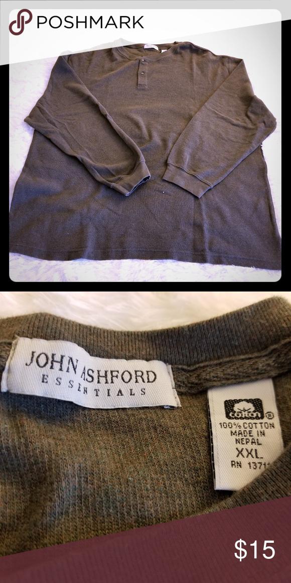 John Ashford Essentials Henley Mens Henley Ashford Henley