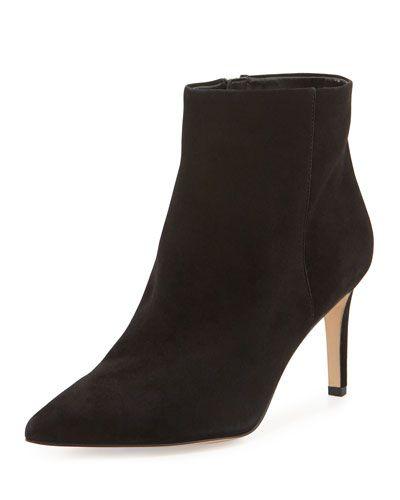 SAM EDELMAN Sam Edelman Karen Suede Ankle Bootie, Black. #samedelman #shoes #boots