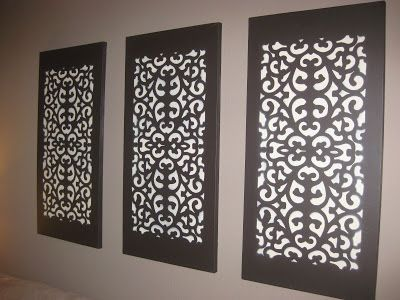 Wall dcor art tutorial so easy you will wonder how you never wall canvas decor made from rubber mats supplies needed art canvas paint or spray paint rubber doormat painters tape attachment that turns a spray solutioingenieria Image collections