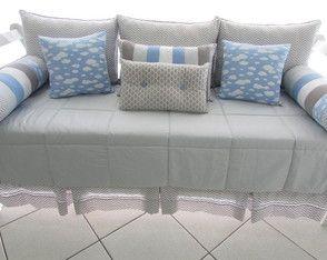 600bfb061c kit cama baba nuvem azul Cama Infantil Solteiro