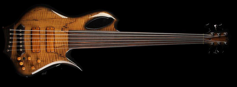 Aries Rian 6 String Fretless Bass