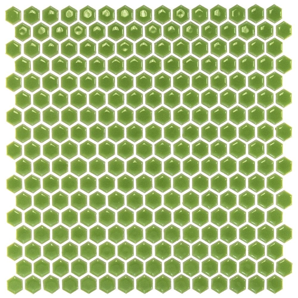 Eden electric lime hexagon polished rimmed ceramic tile limes eden rimmed electric lime hexagon polished ceramic tile 10 ft2 from tilebar dailygadgetfo Image collections