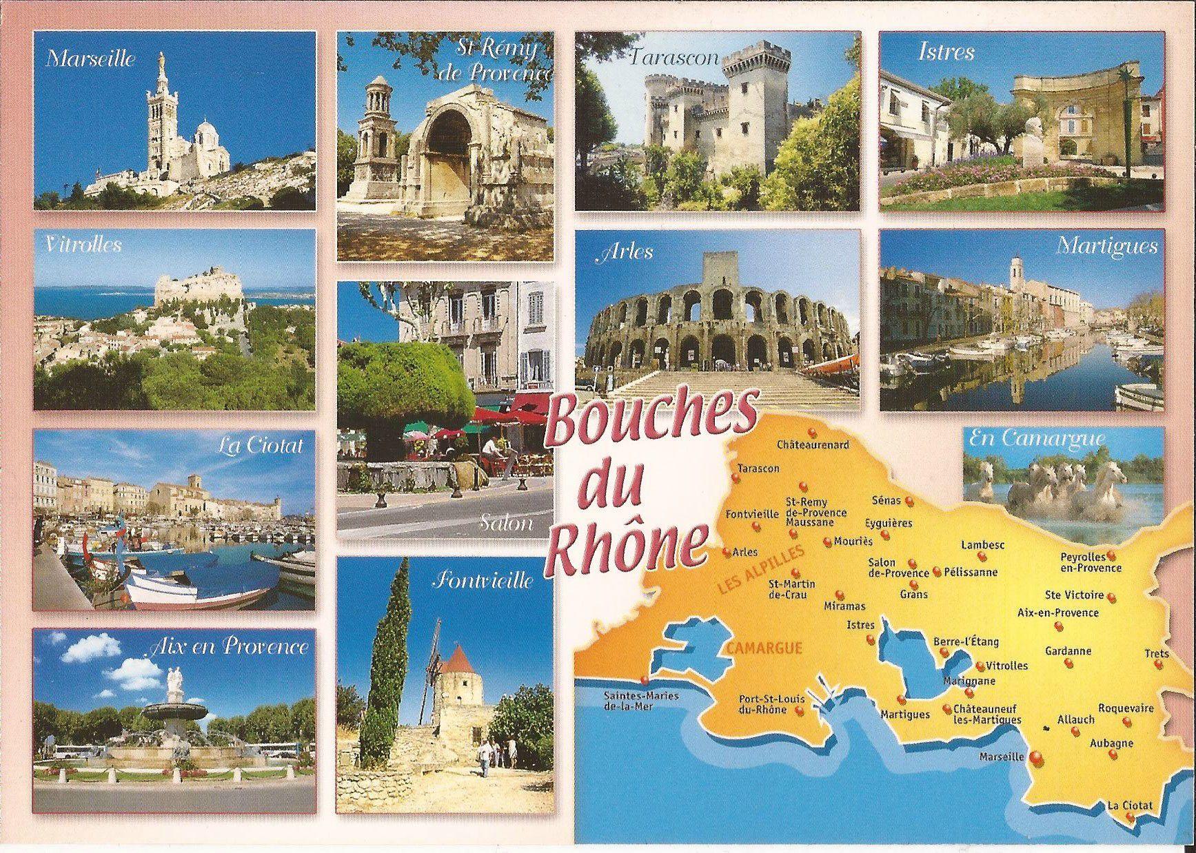 13 Bouches Du Rhone Rhone Departements Francais Et Lieu Touristique